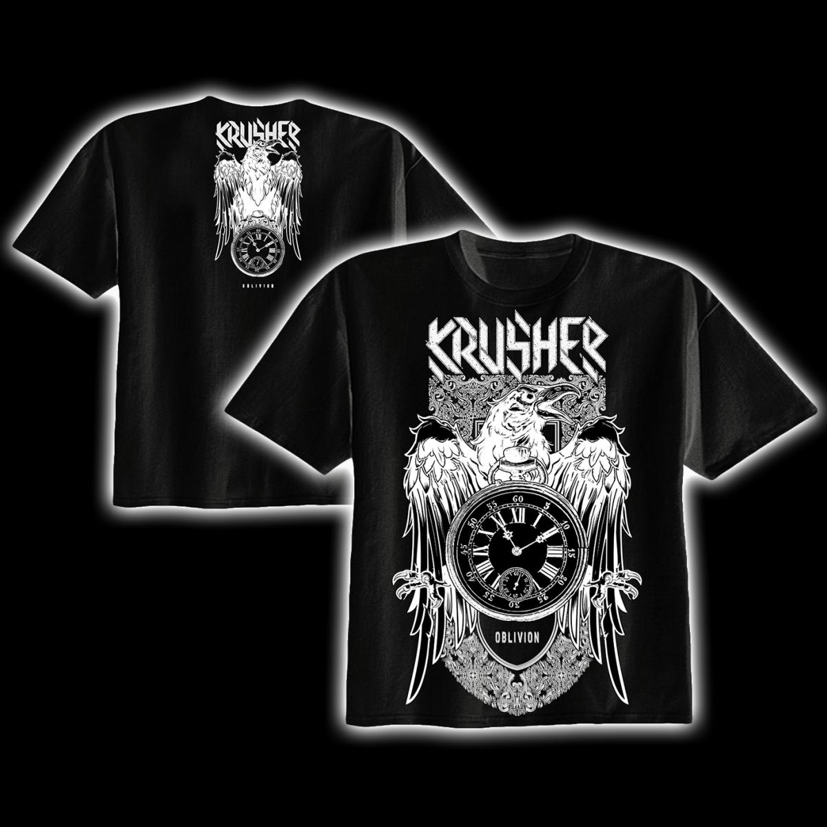 Krusher Oblivion T Shirt Black